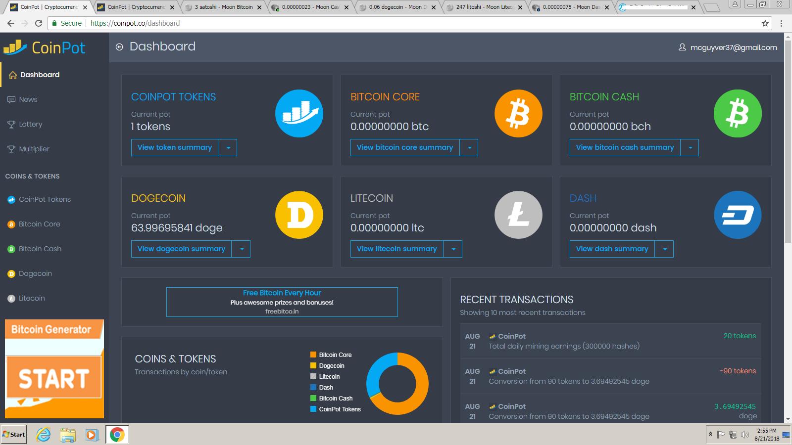 Dogecoin Coinpot Faucet How To Transfer Bitcoin Between