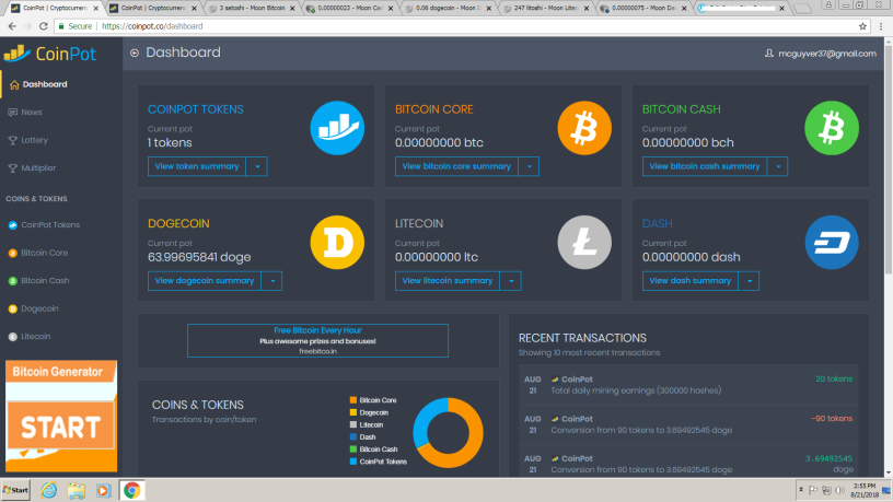 Coinpot Faucet Strategy – Collect bitcoins thru mining and